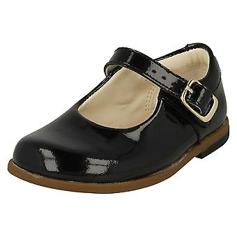 Girls Clarks Buckle Fastening School Shoes Drew Sky