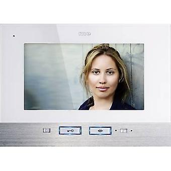 m-e modern-electronics Video door intercom Corded Indoor panel White, Stainless steel
