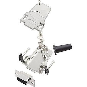encitech D45ZF09-HDS15-K 6355-0064-11 D-SUB opvangbakje set 45 ° aantal pinnen: 15 soldeer emmer 1 set