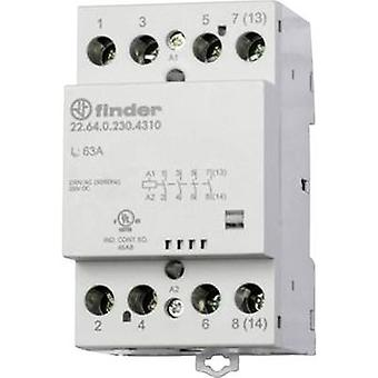 Finder 22.64.0.230.4710 Contactor 3 makers, 1 breaker 230 V DC, 230 V AC 63 A 1 pc(s)