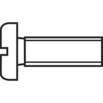 TOOLCRAFT 888697 Inbusschrauben M6 20 mm Schlitz DIN 84 Stahl Zink vernickelt 1 PC