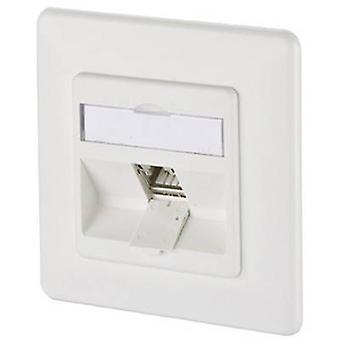 Metz Connect 130B12D11002-E Network outlet Flush mount Insert with main panel and frame CAT 6A 1 port Pure white