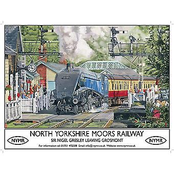 North Yorkshire Moors Railway sinal do Metal (Sm 200 X 150 Mm)