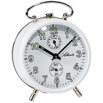 Atlanta 1063/0 of mechanical alarm clock metal know mechanically round