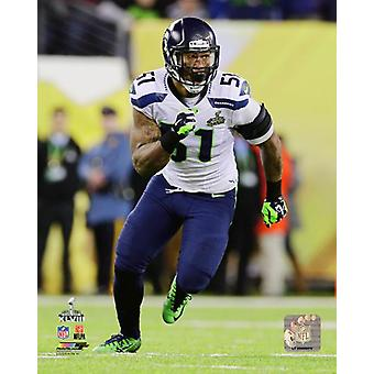 Bruce Irvin Super Bowl XLVIII toiminta Photo Print