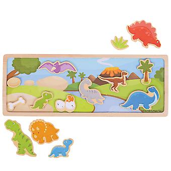 Bigjigs Toys Magnetic Picture Story Board (Dinosaur) Play Learn