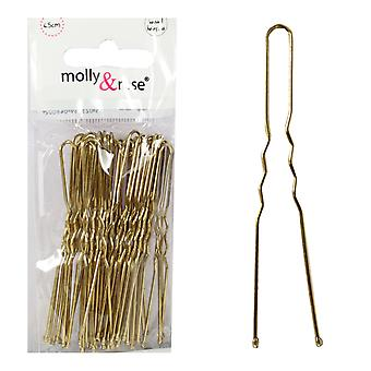 Molly & Rose Gold vinket Hair Pins 36 Pack x 3