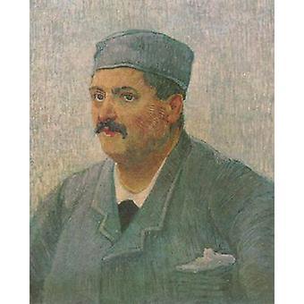صورة لرجل مع غطاء الجمجمة، فنسنت فان جوخ، 65.5x54.5cm