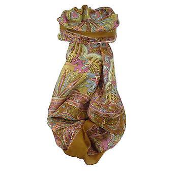 Classic Paisley Long Scarf Mulberry Silk Anya Sienna by Pashmina & Silk