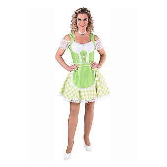 Vrouwen kostuums Tiroler jurk voor vrouwen groen