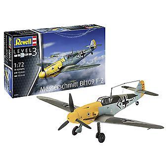 Revell GmbH 03893 Messerschmitt Bf109 F-2 Plastic Model Kit, grijs Camouflage