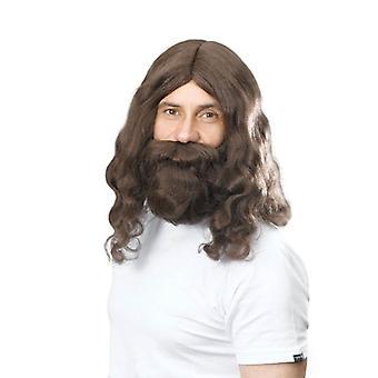 Hippy/Jesus Wig & Beard Set.