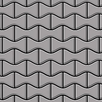 Metal mosaic Stainless Steel ALLOY Kismet-S-S-MA
