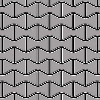 Fém mozaik rozsdamentes acél ötvözet Kismet-S-S-MA