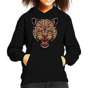 Leopard Stength And Focus Kid's Hooded Sweatshirt