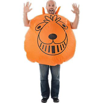 Orions Costumes Orange Giant Inflatable Space Hopper 70s 80s Fancy Dress Costume