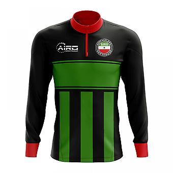 Somaliland Konzept Fußball Half Zip Midlayer Top (schwarz-grün)