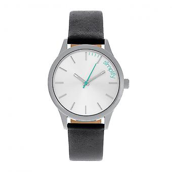 Vereenvoudigen van de 2400 lederen-Band Unisex Watch - zilver