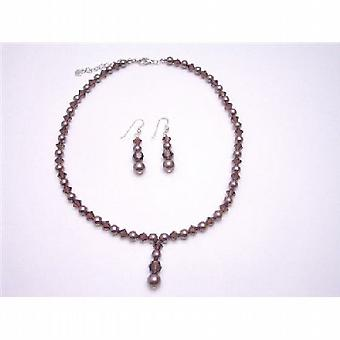 Burgundy Swarovski Pearls Burgundy Crystals Bridal Bridesmaid Jewelry