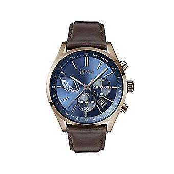 Hugo Boss chronograaf kwarts mannen horloge met lederen band 1513604