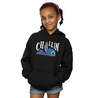Disney Girls Lilo And Stitch Chillin Hoodie