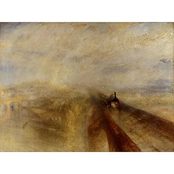 Rain, Steam and Speed-The Great Western, J.M.W. Turner, 50x37cm