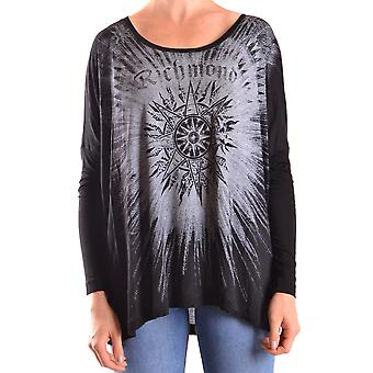 John Richmond Ezbc082032 Women's Black Viscose Blouse