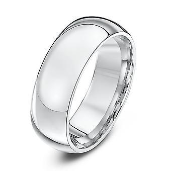 Star Wedding Rings Silver Heavy Court Shape 7mm Wedding Ring