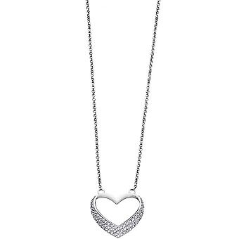 Necklace and pendant Lotus Style LP1638-1-1 - necklace and pendant silver rhinestone classic woman