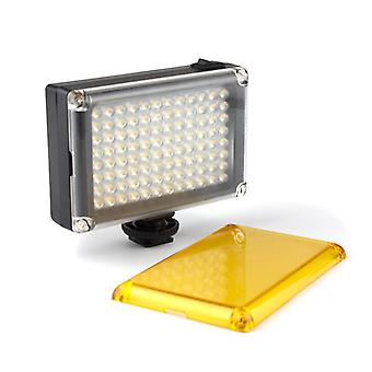Portable LED camera lamp with 2x color filter