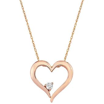 Mark Milton Diamond Heart hänge-rosa guld