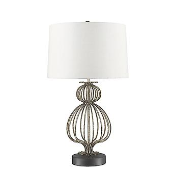 Stead-1 Light Table Lamp-Distressed Silver-GN/LAFITTE/TL SV