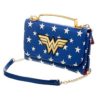 Wonder Woman Inside Out Cross Body Clutch Purse
