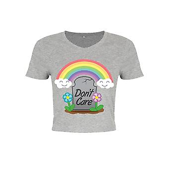 Grindstore Ladies/Womens Don`t Care Crop Top
