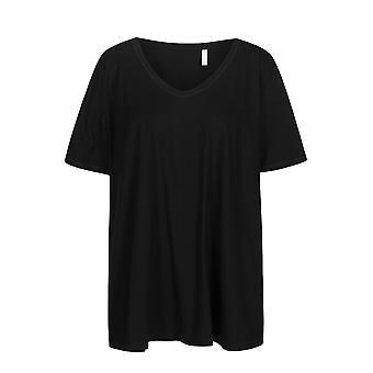 Rosch 1194605-11741 Top da pigiama donna curva Jet nero