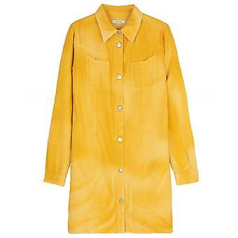 Ganni Hopewell Denim Shirt Dress