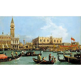 Named Canaletto Venetie, the Bacino Tue, Canaletto, 60x36cm