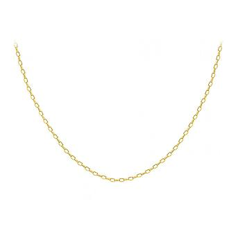 Eternity 9ct Gold 24 ' ' holle ovale boeren ketting