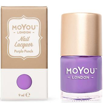 MoYou London Stamping Nail Lacquer - Purple Punch 9ml (MN033)