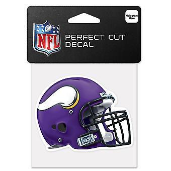 Wincraft helm sticker 10x10cm-NFL Minnesota Vikings