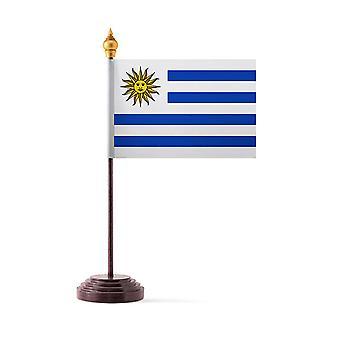 Uraguay taulukon lippu kiinni ja pohja