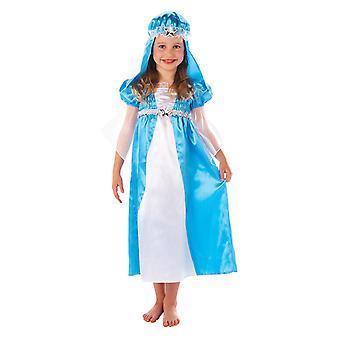 Meisjes Nativity Mary fancy dress kostuum (leeftijd 5-6)