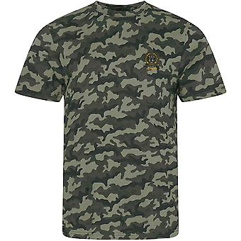 4th Queen's Own Hussars Veteran - Licensed British Army Embroidered Camouflage Print T-Shirt