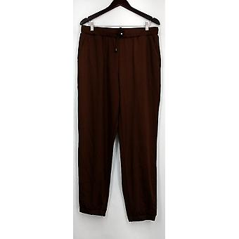 Arae Pants Drape Knit Loose With Pockets & Drawstring Brown Womens A428127