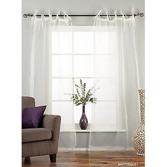 Weiße Krawatte Top schiere Gewebe Vorhang / drapieren / Panel - 84