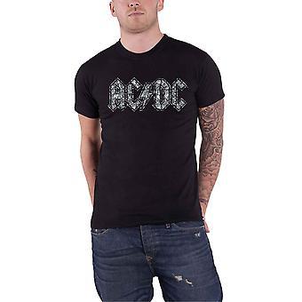 AC / DC تي قميص ديامانتي كلاسيك باند الشعار الجديد الرسمي ة للجنسين الأسود