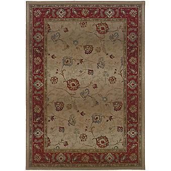 Genesis 521j1 beige/red indoor area rug rectangle 4'x5'9