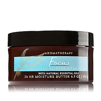 Bath and Body Works Focus Eucalyptus et Tea Body Butter 6,7 oz / 190 g (Pack de 2)