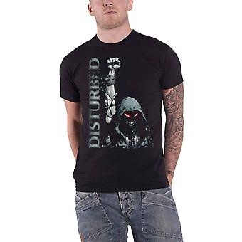 Disturbed T Shirt Up Yer Military band logo new Official Mens Black