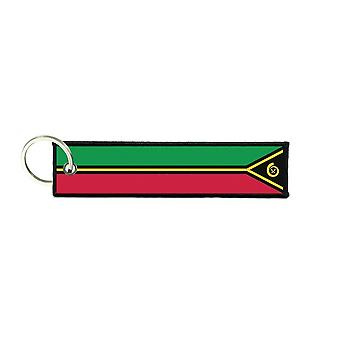 Port Cles Key Cle Homme Homme Fabric Brode Prints Vanuatu Flag